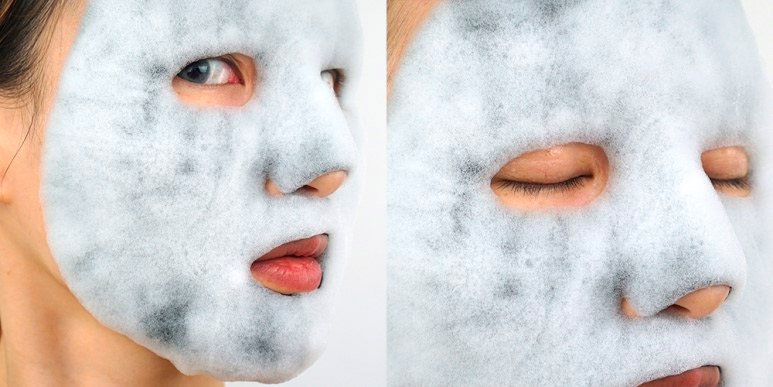Кислородная тканевая маска для лица RIVECOWE Beyond Beauty Bubble Mask Pack
