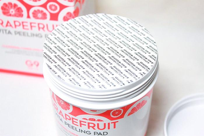 Пилинг-пэды для лица с грейпфрутом G9 SKIN Grapefruit Vita Peeling Pad