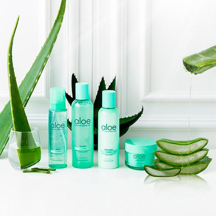 Успокаивающая эмульсия с алоэ вера HOLIKA HOLIKA Aloe Soothing Essence 90% Calming Emulsion