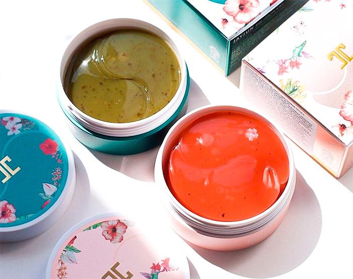 Гидрогелевые патчи с лепестками зелёного чая JAY JUN Green Tea Eye Gel Patch