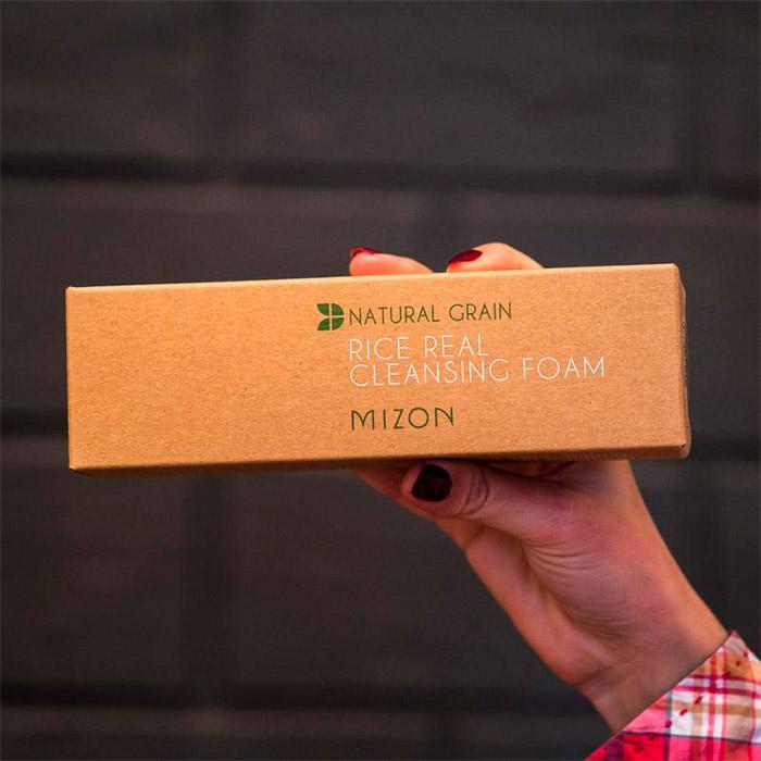 Рисовая пенка для пористой кожи MIZON Rice Real Cleansing Foam