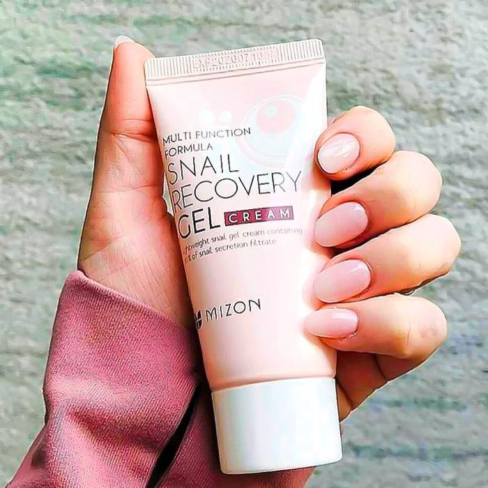 Крем-гель с улиточным муцином 74% MIZON Snail Recovery Gel Cream
