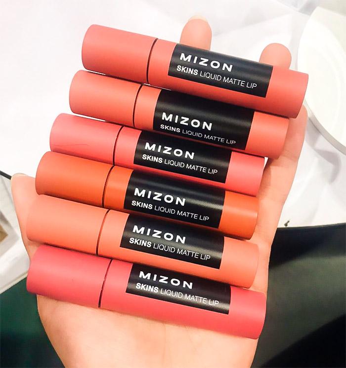 Жидкая матовая помада MIZON Skins Liquid Matte Lip