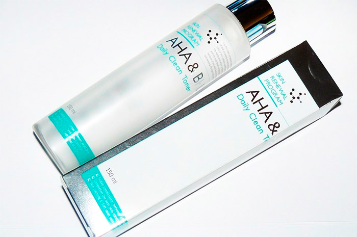 Пилинг-тонер с кислотами MIZON AHA and BHA Daily Clean Toner