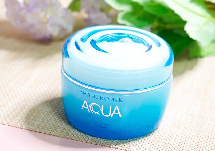 Гель-крем для комбинированной кожи NATURE REPUBLIC Super Aqua Max Fresh Watery Cream