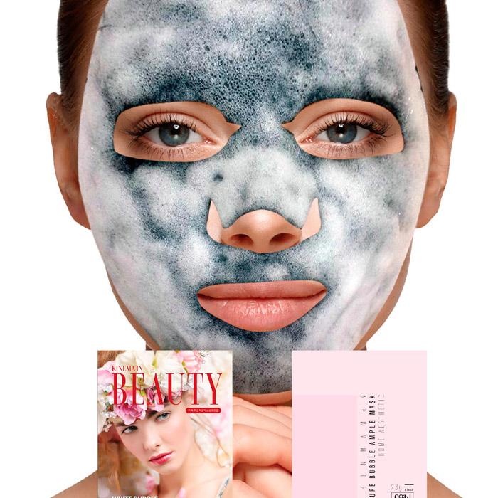 Очищающая кислородная тканевая маска NO:HJ Skin Maman Pure Bubble Essence Mask