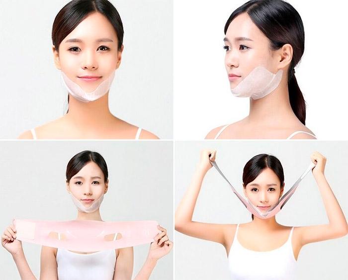 Набор масок+бандаж для подтяжки контура лица RUBELLI Beauty Face