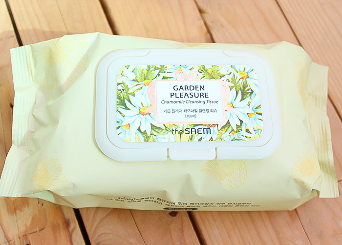 Очищающие салфетки с ромашкой THE SAEM Garden Pleasure Chamomile Cleansing Tissue